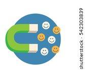 inbound marketing graphic with... | Shutterstock .eps vector #542303839