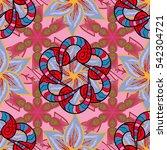 mandalas background. red  pink  ...   Shutterstock .eps vector #542304721