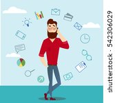 araster business man characters ...   Shutterstock . vector #542306029