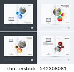 business vector. brochure... | Shutterstock .eps vector #542308081
