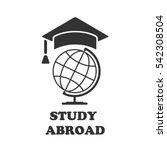 globe with cap rogatywka.... | Shutterstock .eps vector #542308504