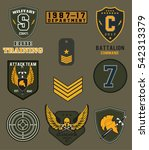 Set of army badge typography, t-shirt graphics, vectors   | Shutterstock vector #542313379