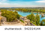 view of the river rhone and the ... | Shutterstock . vector #542314144