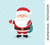 cartoon santa claus for your... | Shutterstock .eps vector #542316334