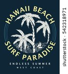hawaii typography for t shirt... | Shutterstock .eps vector #542318971