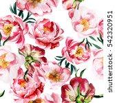 Pink Peonies Pattern. Seamless...
