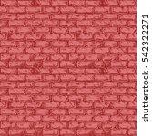 seamless red pattern of grunge...   Shutterstock .eps vector #542322271
