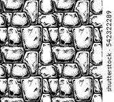 twelve angle stone. seamless...   Shutterstock .eps vector #542322289