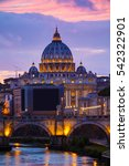 the papal basilica of st. peter ... | Shutterstock . vector #542322901