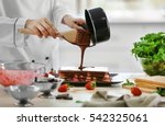 cooking concept. professional... | Shutterstock . vector #542325061