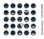 pixel icons isolated ... | Shutterstock . vector #542325889