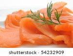 Close Up Of Smoked Salmon...
