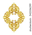 ornament elements  vintage gold ... | Shutterstock . vector #542336299