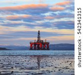 semi submersible oil rig at... | Shutterstock . vector #542341315