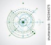 technical plan  blue abstract... | Shutterstock . vector #542344375