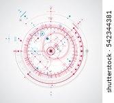 technical plan  blue abstract... | Shutterstock . vector #542344381