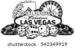 Stock vector welcome to las vegas 542349919