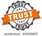 trust. stamp. sticker. seal.... | Shutterstock .eps vector #542350837