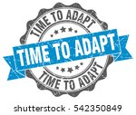 time to adapt. stamp. sticker.... | Shutterstock .eps vector #542350849