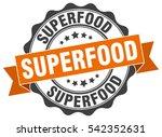 superfood. stamp. sticker. seal.... | Shutterstock .eps vector #542352631