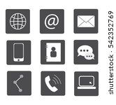communication icons set flat  | Shutterstock .eps vector #542352769