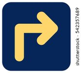 turn right vector icon. image... | Shutterstock .eps vector #542357689