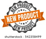 new product. stamp. sticker.... | Shutterstock .eps vector #542358499