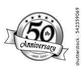 50th anniversary design... | Shutterstock .eps vector #542359069