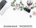 laptop  computer  camera  alarm ... | Shutterstock . vector #542363251