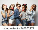 life style and people concept ... | Shutterstock . vector #542369479