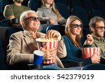 good old movies. cheerful... | Shutterstock . vector #542379019
