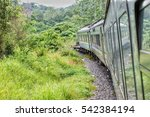 Train in the jungle of middle Malaysia along the Jungle Railway or also known as East Coast Line