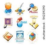 media technology icons. heading ... | Shutterstock .eps vector #54239290
