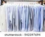closeup photo of men's shirts... | Shutterstock . vector #542397694