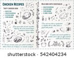 sketch food icons 4 design... | Shutterstock .eps vector #542404234