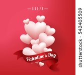 realistic white romantic... | Shutterstock .eps vector #542405509