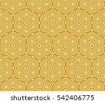 geometric pattern of circles... | Shutterstock . vector #542406775