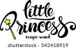 little princess lettering... | Shutterstock .eps vector #542418919