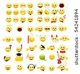 large set of cool smiles.... | Shutterstock .eps vector #54241894
