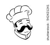 chef sign. | Shutterstock .eps vector #542421241