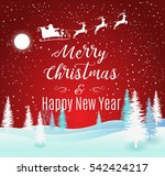 vector illustration of santa... | Shutterstock .eps vector #542424217