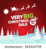 big christmas sale. vector...   Shutterstock .eps vector #542424739
