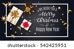 vintage christmas greeting card ... | Shutterstock .eps vector #542425951