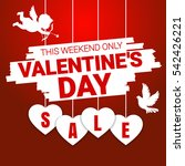 valentine's day sale offer ... | Shutterstock .eps vector #542426221
