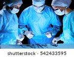 medical team performing... | Shutterstock . vector #542433595