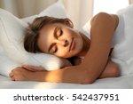 Beautiful Young Woman Sleeping...