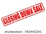 closing down sale red stamp... | Shutterstock .eps vector #542442241