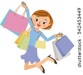 shopping and woman | Shutterstock .eps vector #542453449