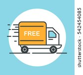 free delivery truck icon. flat... | Shutterstock .eps vector #542454085