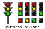 the isolated traffic lights for ...   Shutterstock . vector #54245845